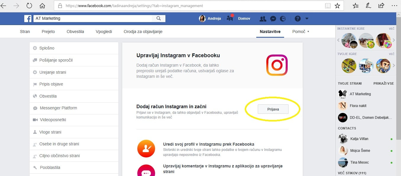 Facebook za podjetja, Instagram 3